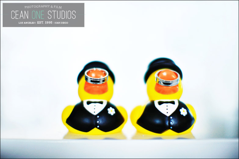 wedding rings on rubber duckies | Cean One Photography | Southern California Wedding Photographer | gay weddings