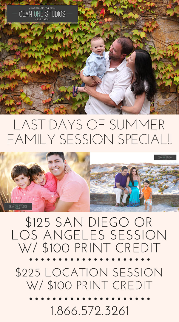 family session promotion | Cean One Photography| Southern California family Photographer |family session