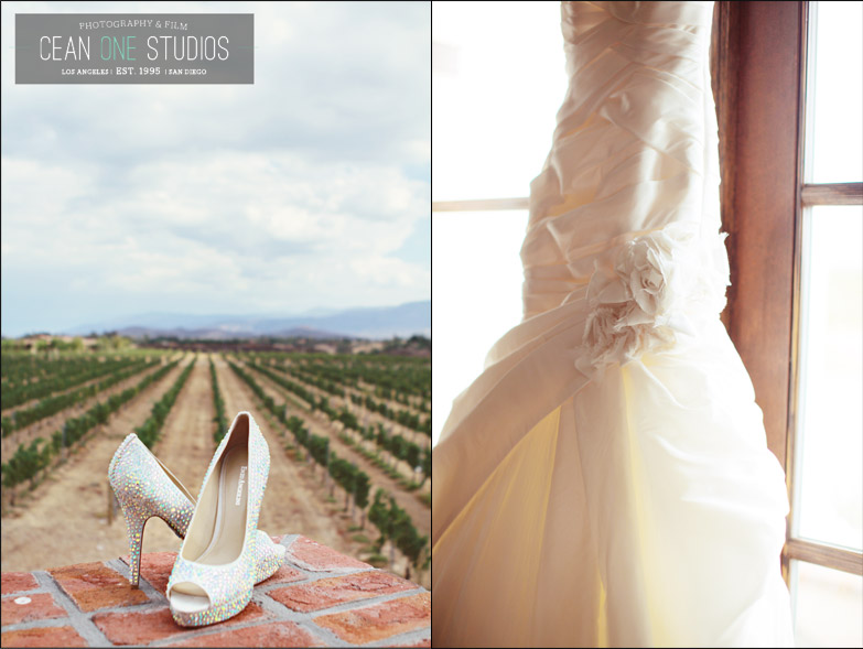 bride shoes and dress | Cean One Photography| Southern California Wedding Photographer | Temecula Wine Country Wedding