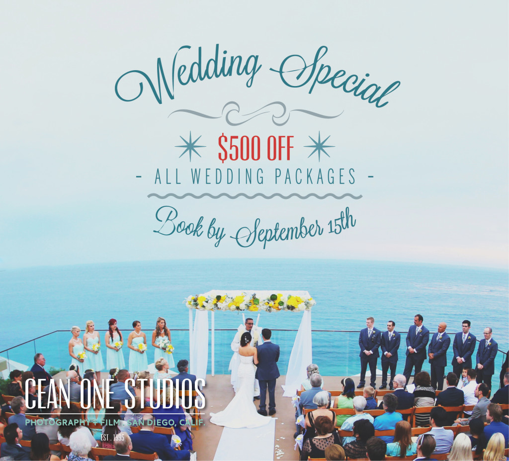 wedding specials | Cean One Photography | Southern California Photographers | September Specials