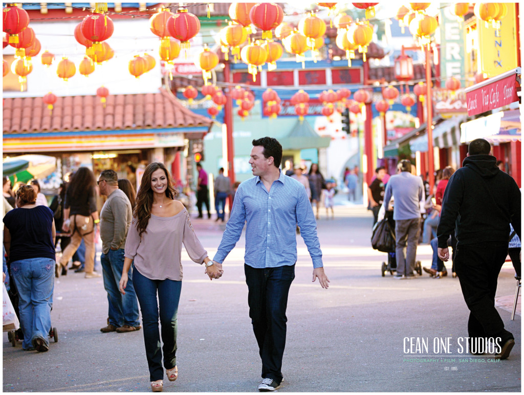 engaged couple in China Town   | Cean One Photography | Southern California Photographers | love story