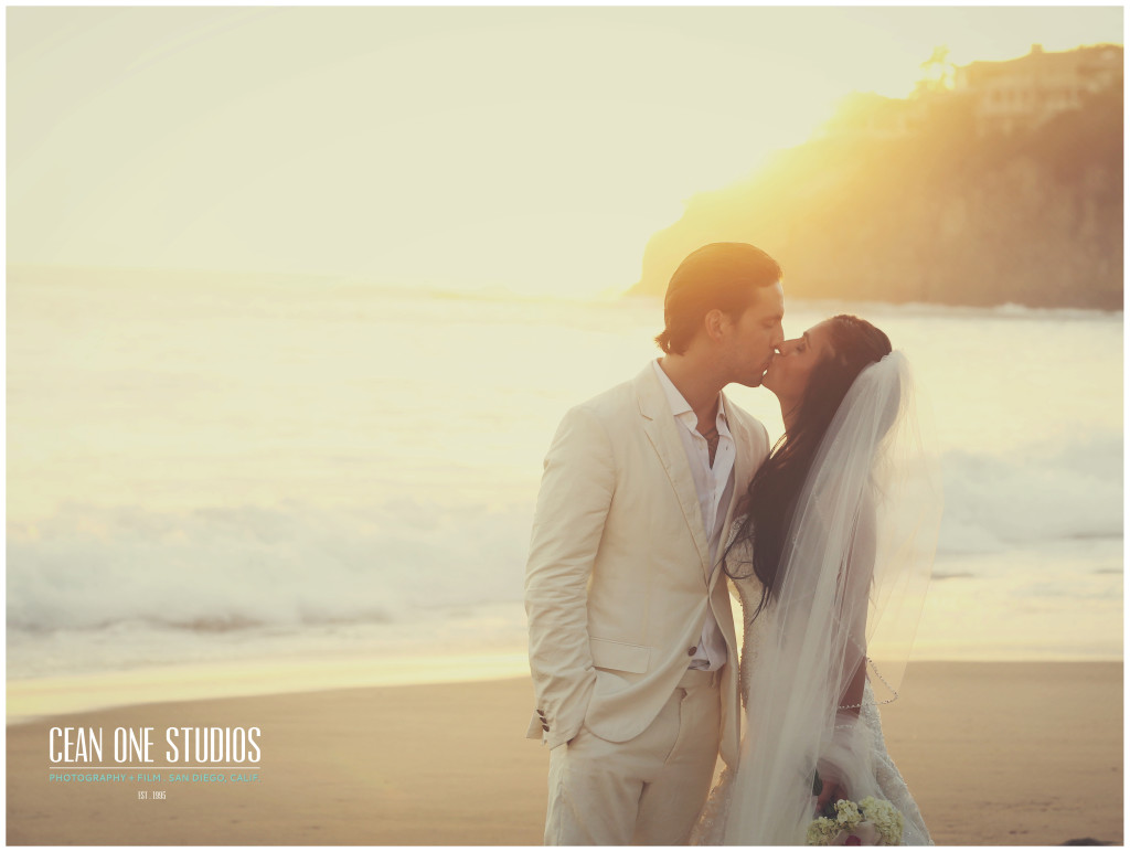 bride and groom kissing at sunset   | Cean One Photography | Southern California Photographers | week of love