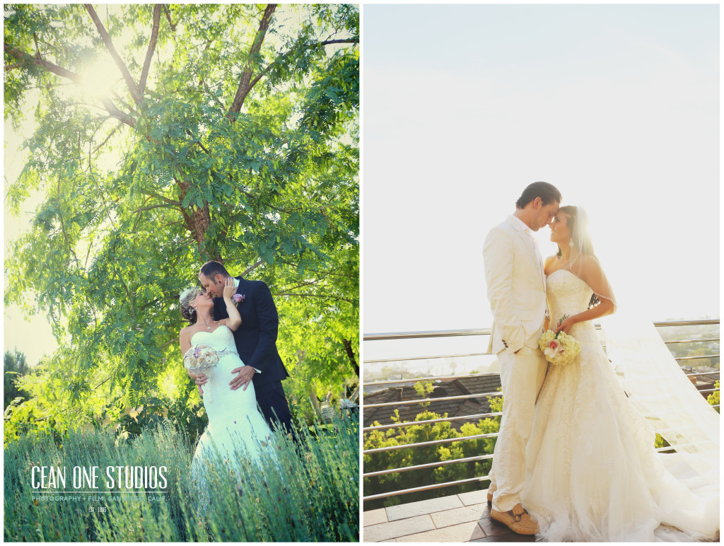 bride holding groom in tall grass   | Cean One Photography | Southern California Photographers | week of love