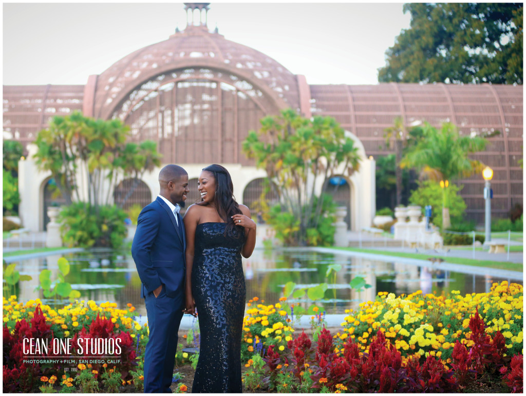 sophisticated couple at Balboa Park   | Cean One Photography | Southern California Photographers | week of love