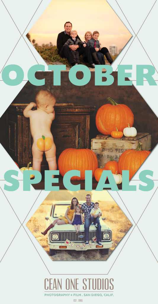 october specials  | Cean One Photography | Southern California Photographers
