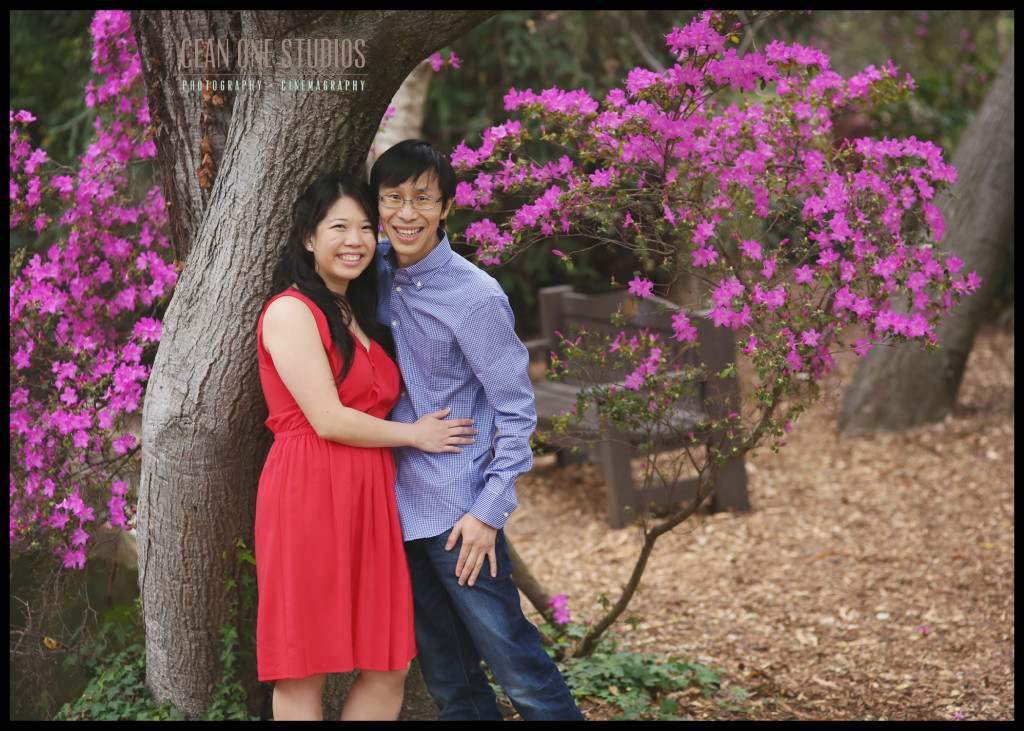 couple posing under a tree  | Mission Bay  | San Diego Wedding Photographer