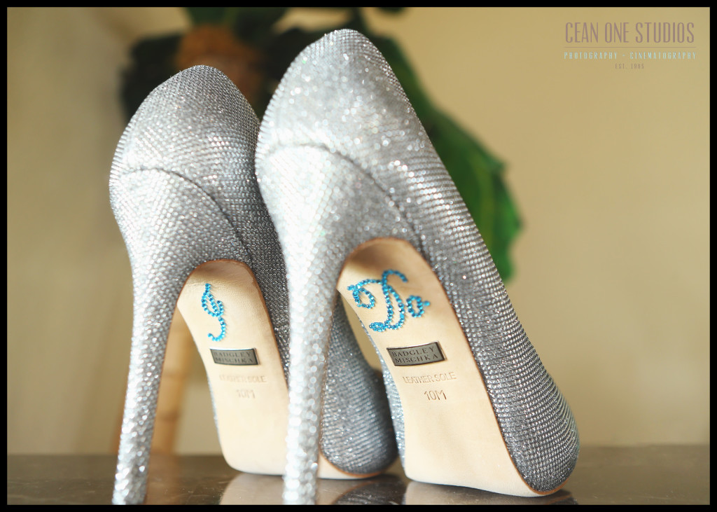 jeweled bridal shoes |Rancho Palos Verdes San Diego Wedding Photographer
