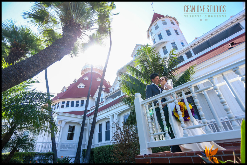 Groom Kissing Bride | Hotel del Coronado San Diego Wedding Photographer