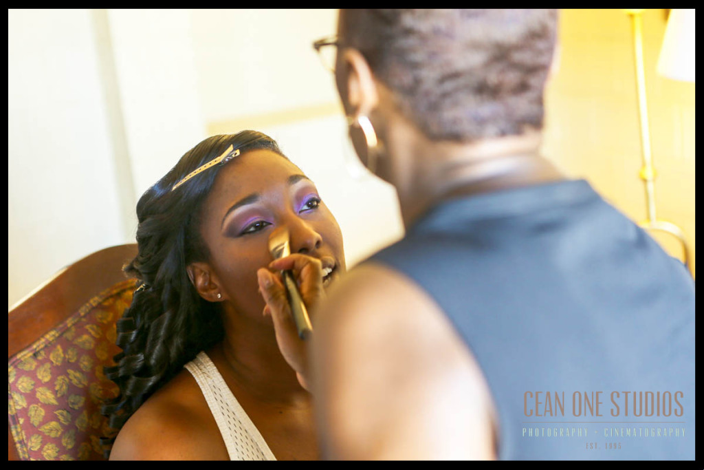 Bride getting makeup |San Diego Wedding Photographer