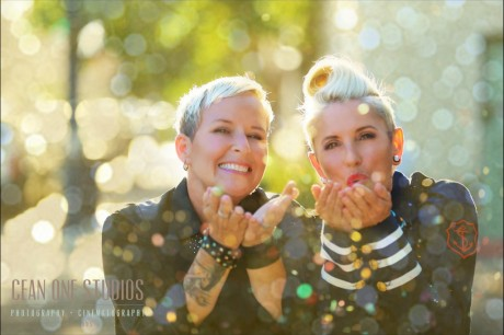 Women Blowing Glitter | Engagement Session | San Diego Wedding Photographer