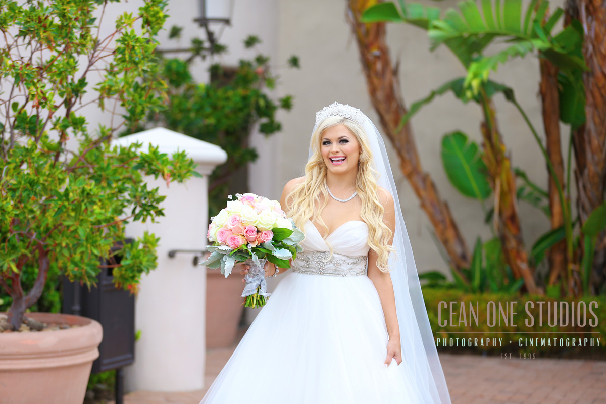 Laughing blonde bride | Pelican Hill Wedding | Cean One Photography
