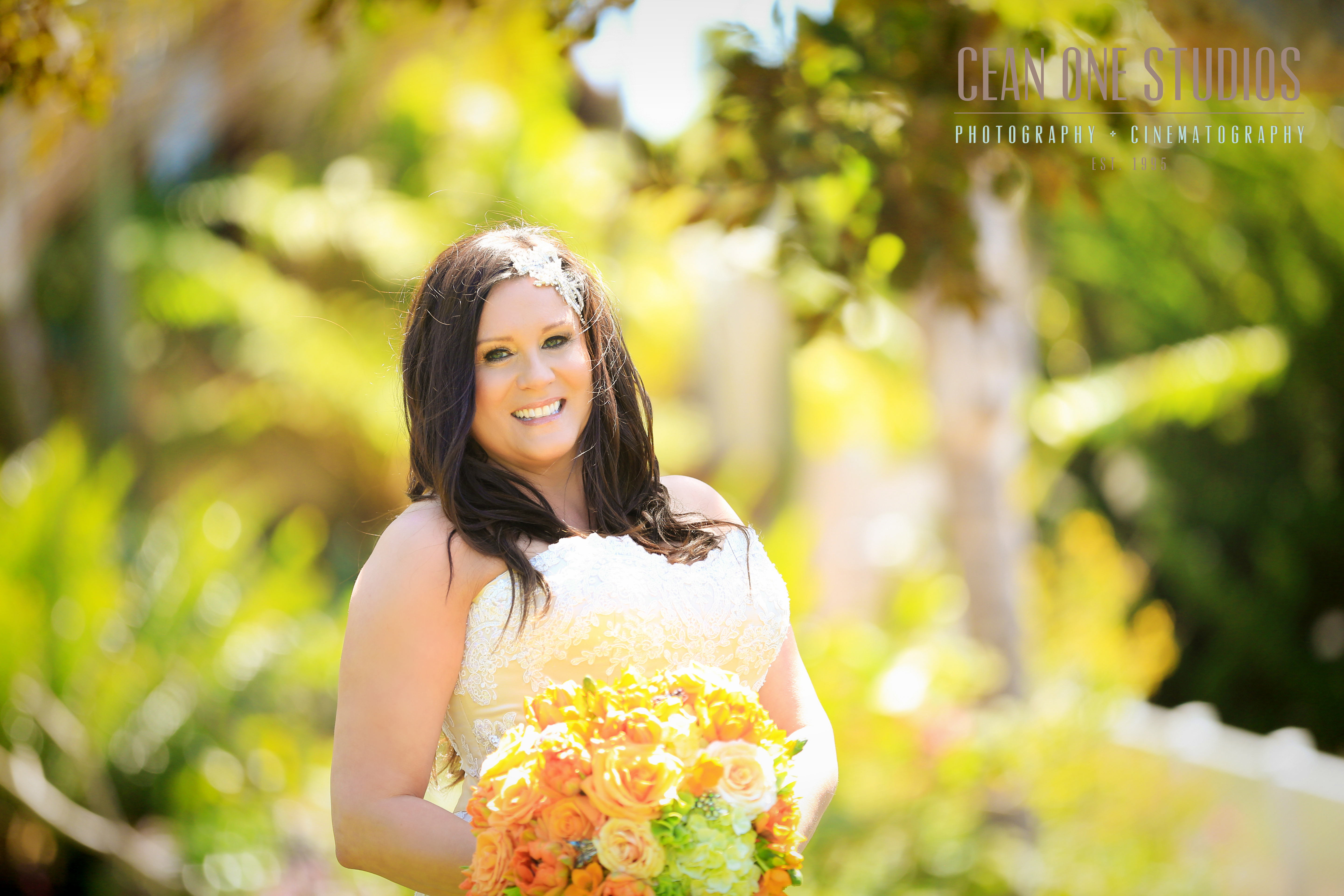 Bride smiling at camera | Cean One Studios | San Diego Wedding Photographer