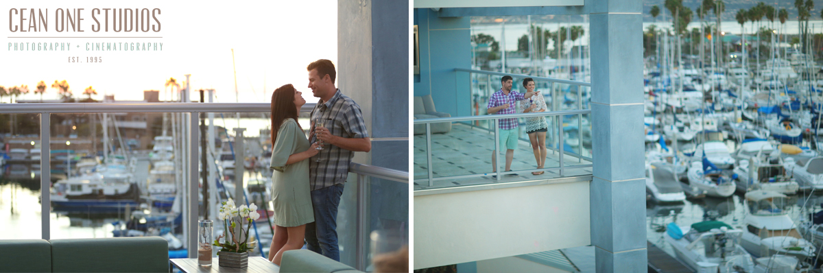 couple on hotel balcony | shade hotel renando beach | los angeles wedding photographer