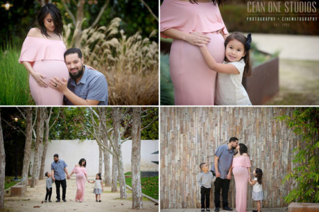 Preggo Mom with Family | LA Family Photographer