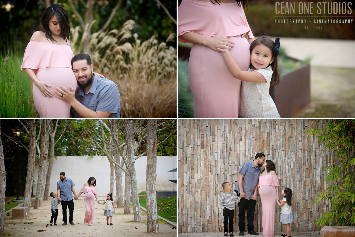 Preggo Mom with Family | LA Family Photographer | Baby Footsteps